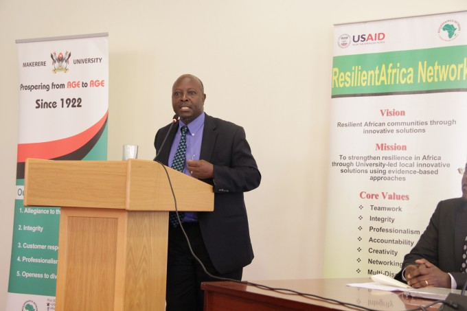 Dr. Ssempebwa, MakSPH giving closing remarks at the disemination meeting