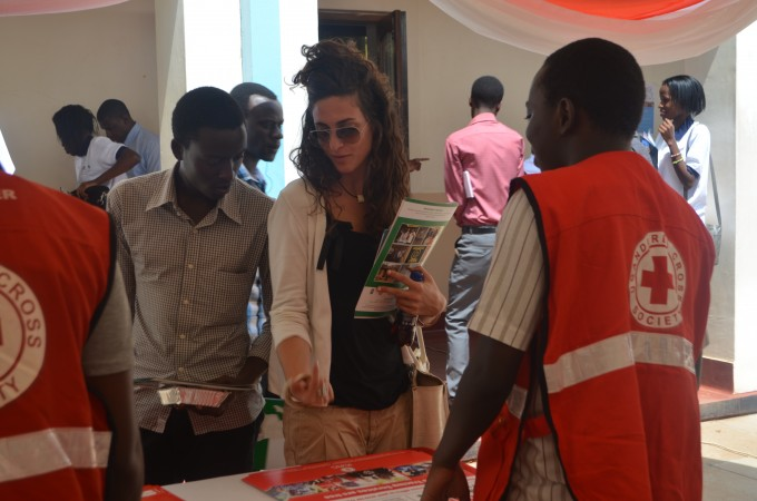 At the Innovation Exhbition during the Humanitarian Innovation Event in East Africa