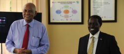 Professor Mondo Kagonyera and Professor William Bazeyo