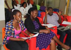 Figure 2: Panel of Judges [L-R]: Viola Nuwaha, Eva Muhanguzi and Richard Zulu