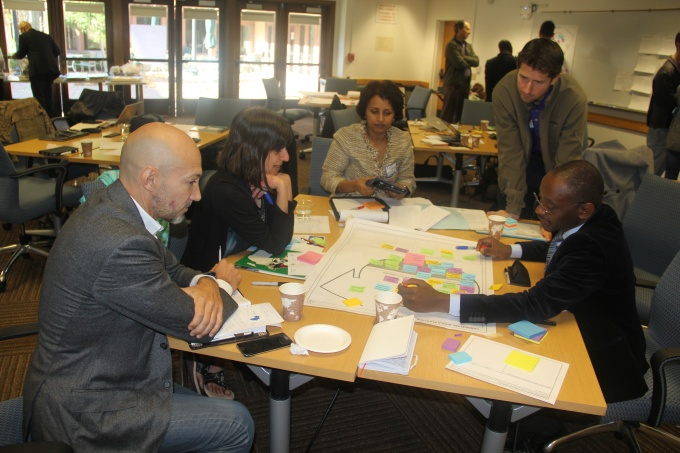 Group discussions about the ChangeLabs Africa Functions