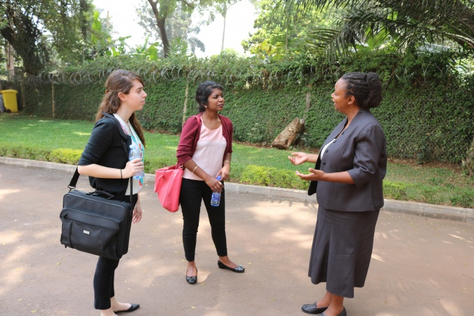Interaction with the RAN Director Innovation Dr. Dorothy Okello (Far right)