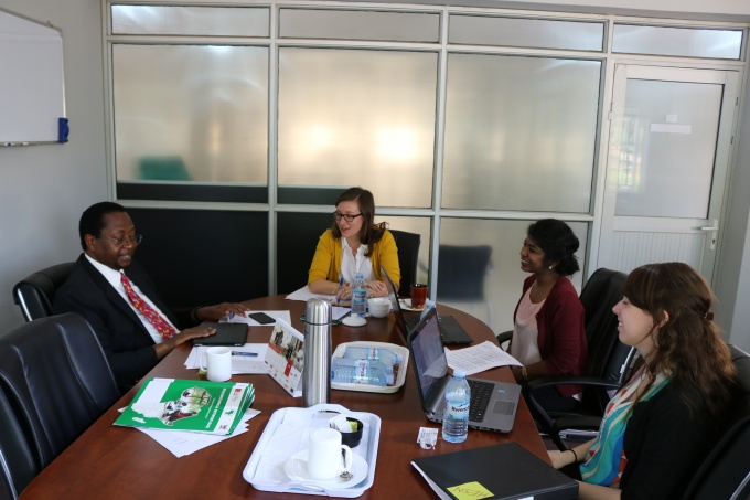 Meeting with the RAN Senior Technical Advisor, Prof. David Serwadda (Left hand side)