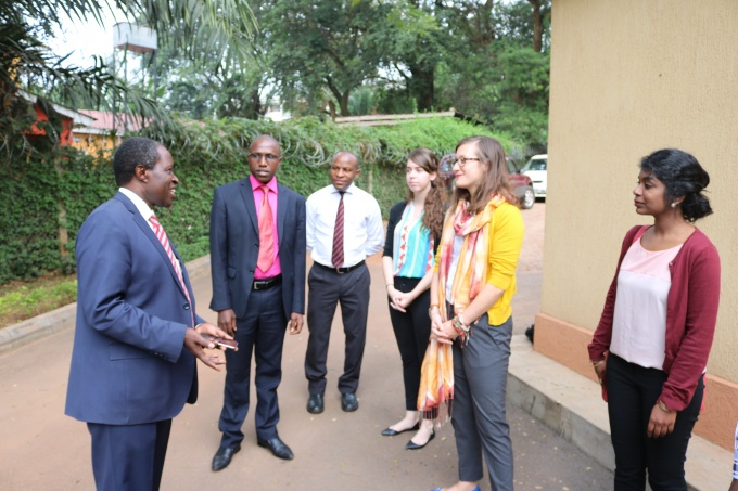 With Prof. William Bazeyo, RAN Chief of Party (Far left) outside the RAN Innovation Lab