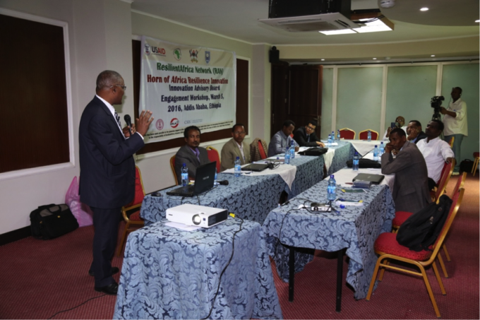 The HoA RILab Director, Prof Kifle Woldemichael, presenting an Overview of RAN
