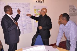 Clarity from Prof Banny Banerjee to some of the workshop participants
