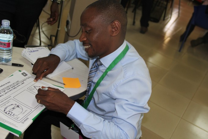 Brains at work-RAN Deputy Chief of Party, Dr. Roy William Mayega designing to meet the end users' needs