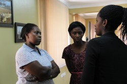 Consultations among the female participants characterized the Technovation Challenge-RAN4GIRLS event