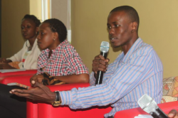 Members of the panel [L-R] Lisa Katusiime, Lynn Asiimwe and Joshua Okello