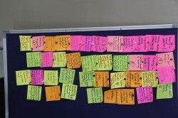 IMG_7374  Use of sticky notes has become a common characteristic of the ISW sessions. Here ideas generation is key