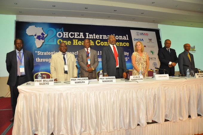 The delegation at the opening of the OHCEA 2nd International Conference led by Rt. Hon. Ruhakana Rugunda, Prime Minister of the Republic of Uganda ( Center in red neck tie)