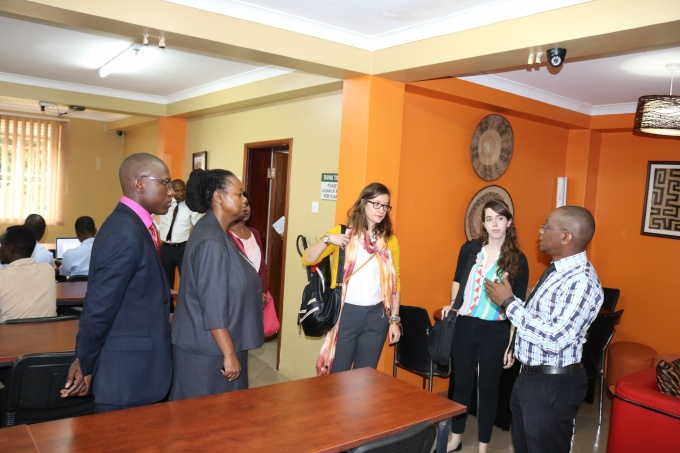 With Dr. Roy William Mayega, RAN Deputy Chief of Party (First on the right hand side) in the lower RAN Innovation Lab