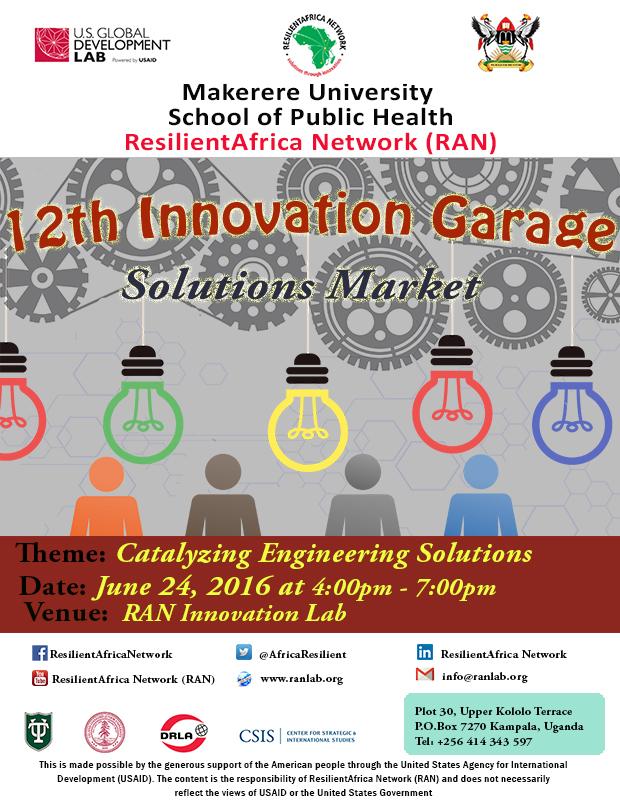 12th Innovation garage poster