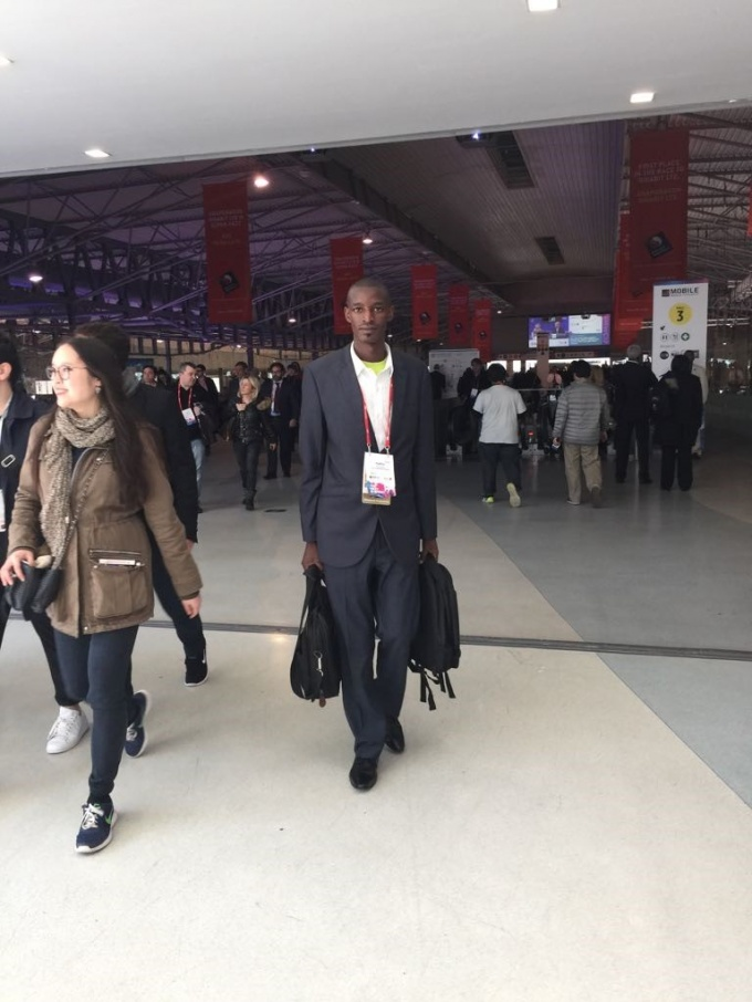 Stephen heading for the Experts meeting at MWC